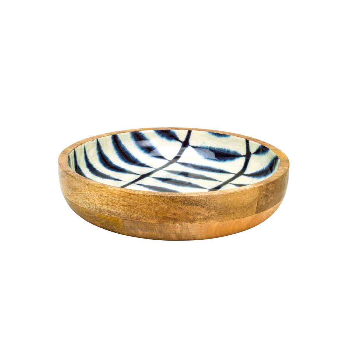 Bowl de Madeira Blue 26x5,5cm