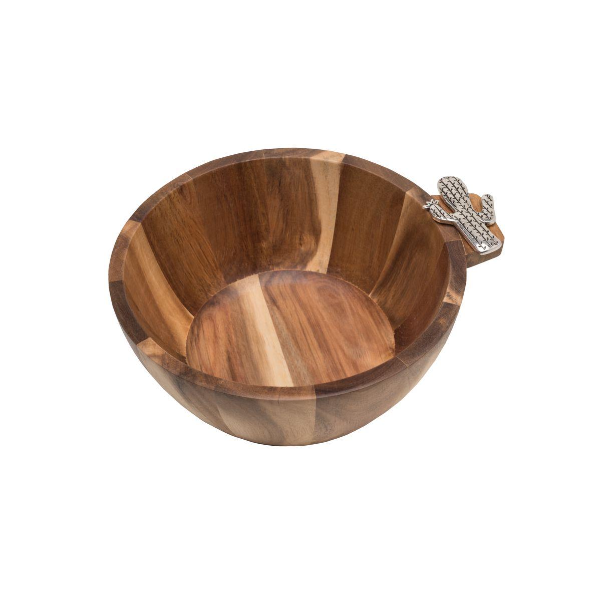 Bowl de Madeira Cactus 25cm