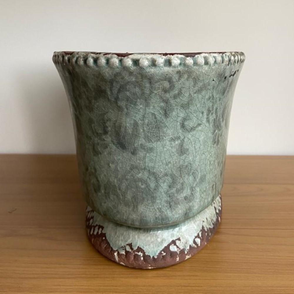 Cachepot de Ceramica Oval 14x16x27cm