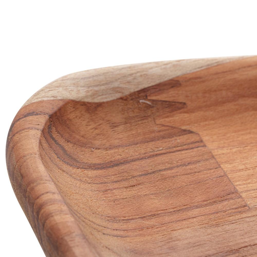 Caneca em Porcelana Preta 350mL c/ pires grande em Madeira 22cm - Woodart