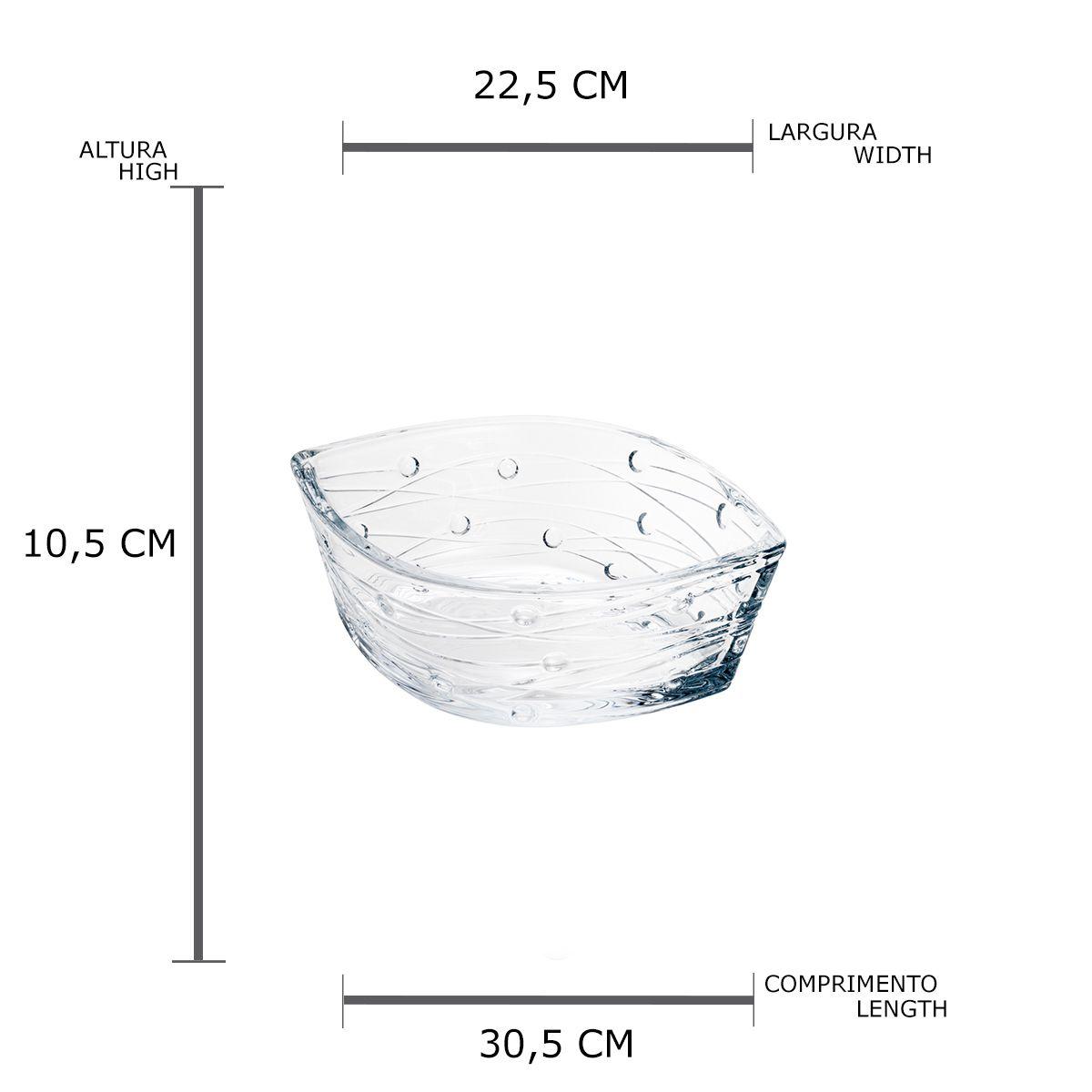 Centro de Mesa Cristal Ecológico Labyrinth 30,5x22,5x10,5cm