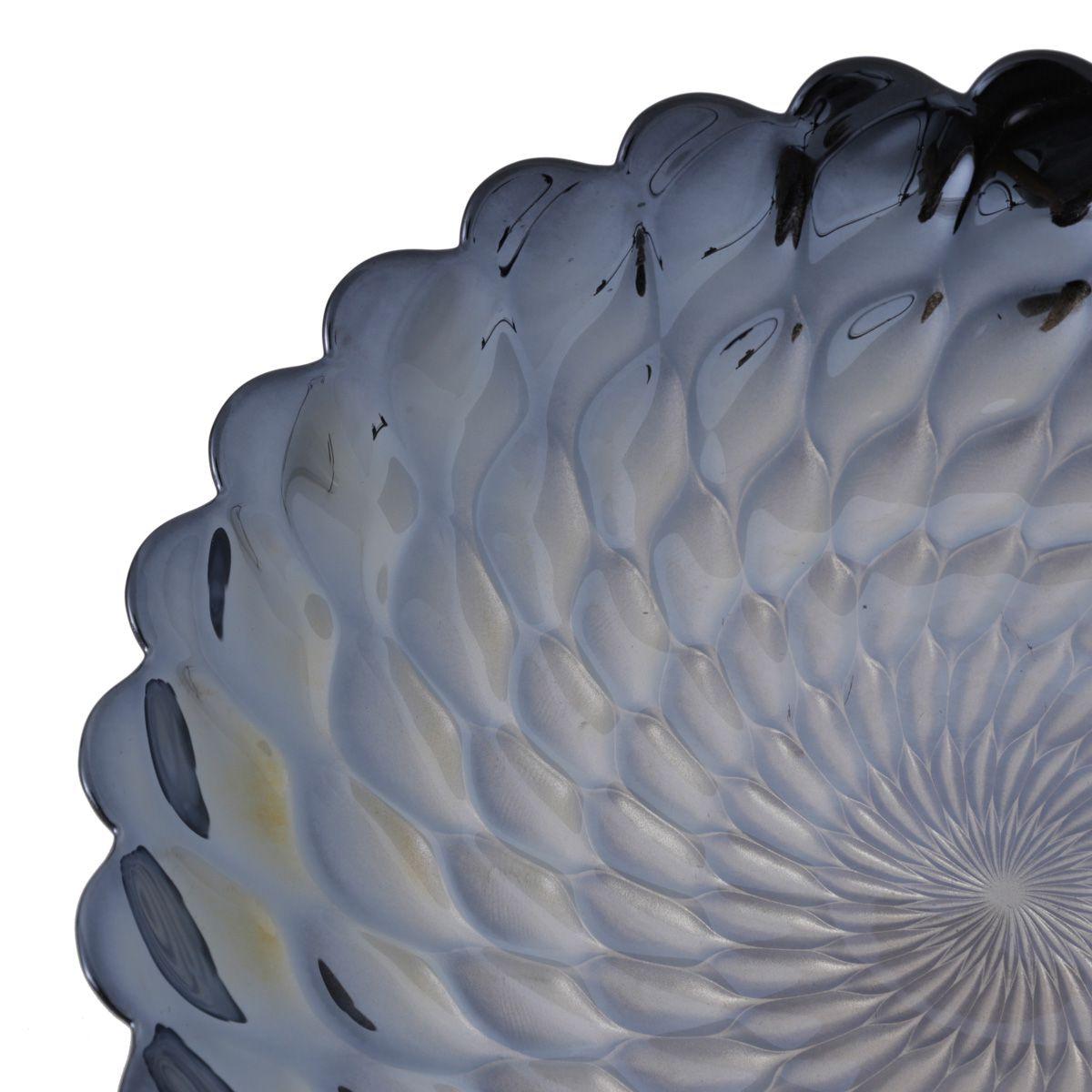 Centro De Mesa Decorativo De Vidro  Belgravia Iris Luster 40x7cm