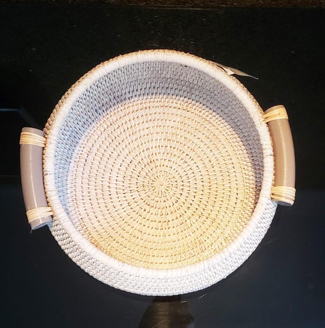 Cesto de Fibra Natural com Alças M 18x39cm