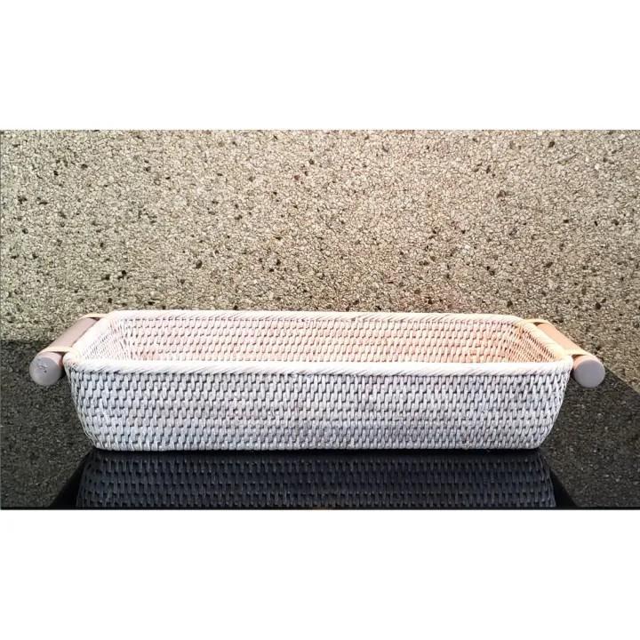 Cesta para Pão em Fibra Natural  40x19x8cm