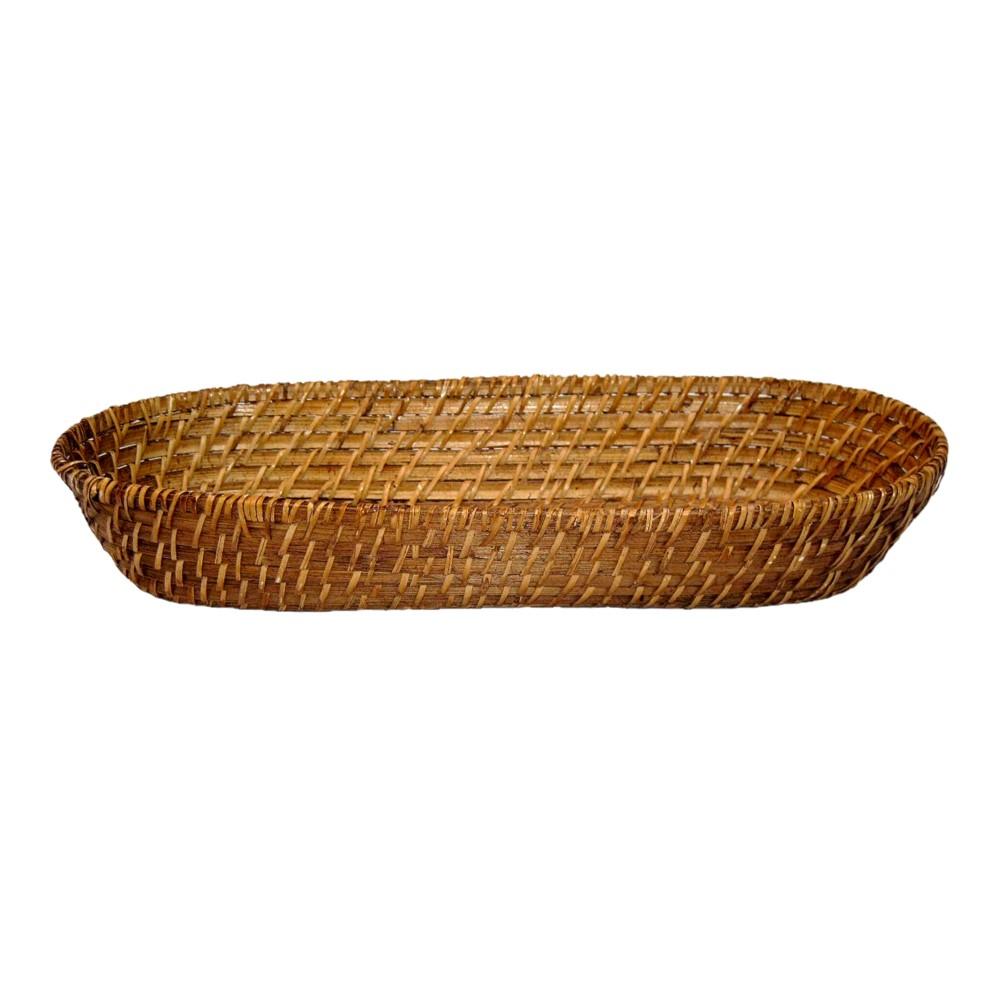 Cesto para Pão em Rattan Kenya - 36x16cm