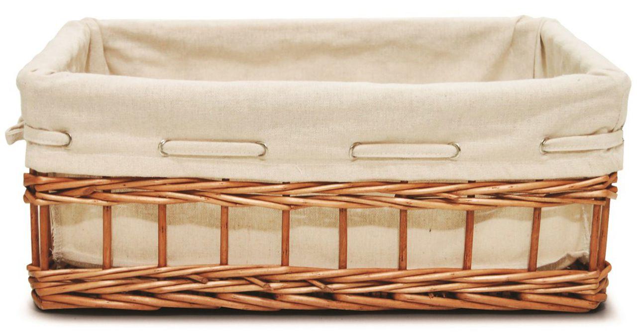 Cesto Retangular Week com Forro - 40X26X15cm