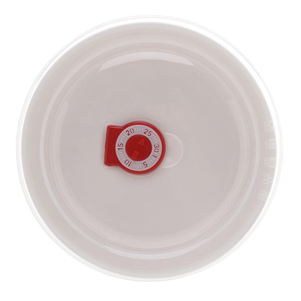 Cj. 03 Refratários de Porcelana Siena c/ tampa New Bone de 900ml, 600ml e 300ml - Lyor