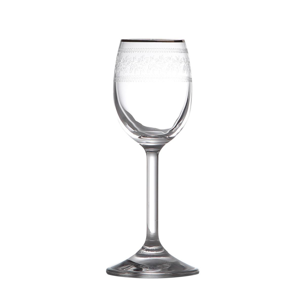 Conjunto 6 Taças para Licor Ingrid 60ml Cristalina