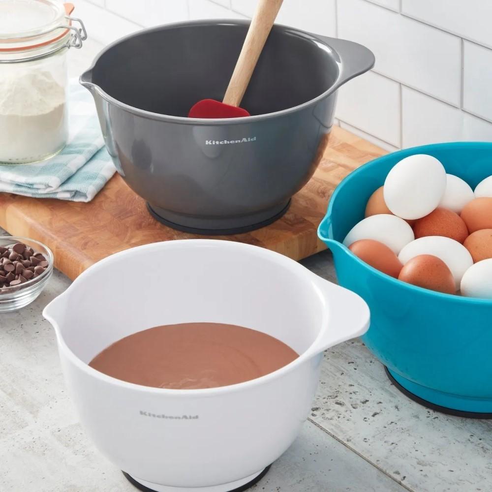 Conjunto 03 Tigelas para Misturar Sortidas Antiderrapante (3L, 4L e 5L) - Kitchen Aid