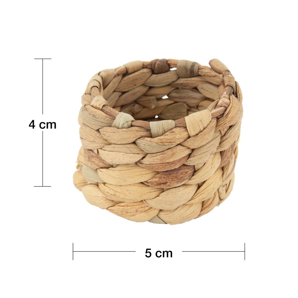 Conjunto 04 Anéis para guardanapo em Fibra Natural 5cm - Royal