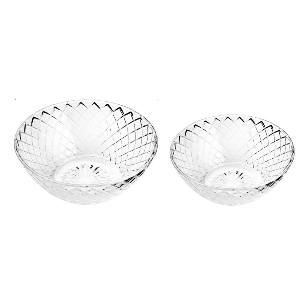 Conjunto 12 Bowls De Vidro Grid Bongourmet (13 e 15cm)