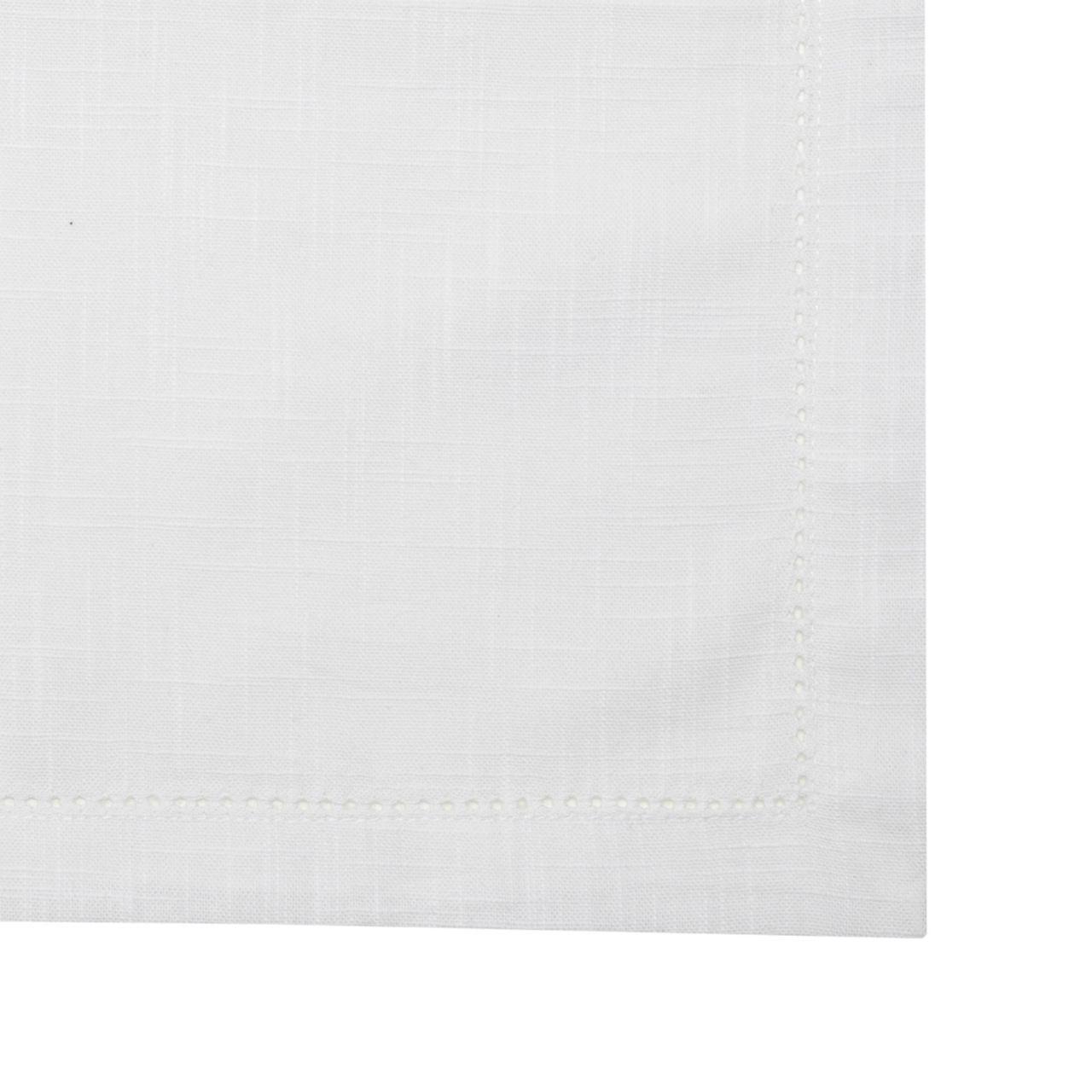 Conjunto 2 Guardanapos Ponto Ajour Algodao Luxo Branco 40x40cm
