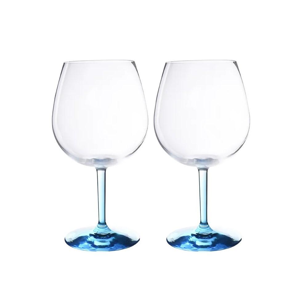 Conjunto 2 Taças de Acrílico para Gin Classic Colorido 690ml - Kenya