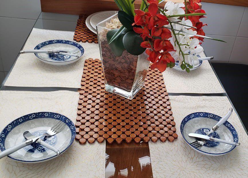 Conjunto 6 Pratos P/Sobremesa De Porcelana Blue 18x3,5cm