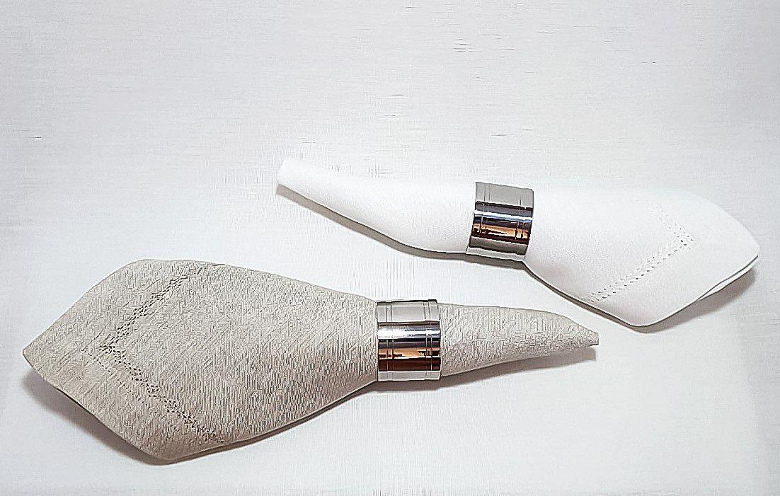 Anel para Guardanapo em Aço Inox Elegance 6pcs 4x3cm