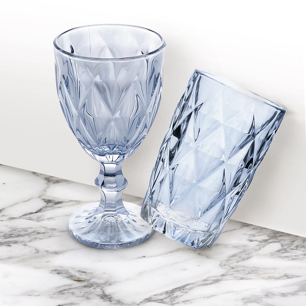 Conjunto 6 Copos Altos De Vidro Diamond 350ml