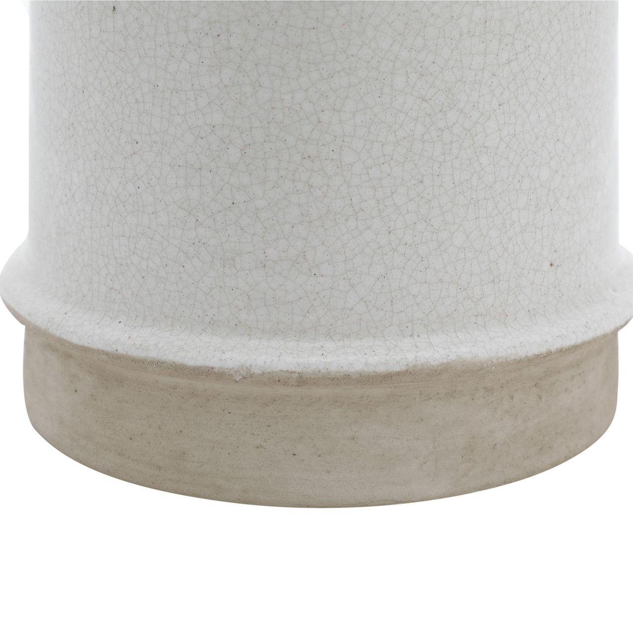 Conjunto com 2 Cachepot Decorativo Porcelana Marfim