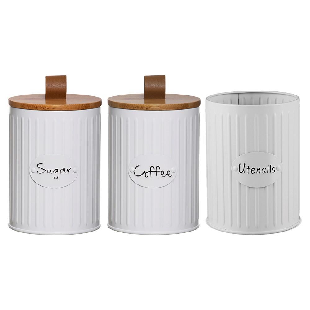 Conjunto com 2 Porta Condimento e 1 Porta Utensilios Lisse