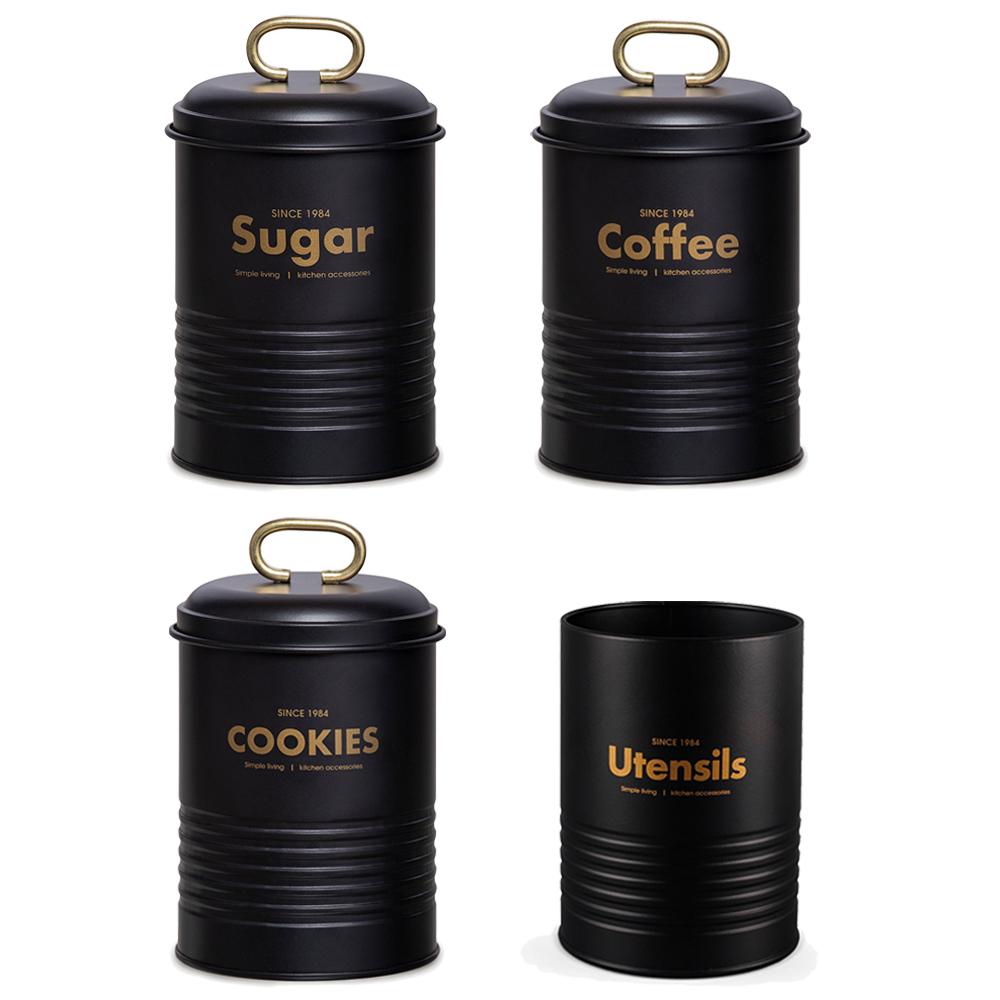 Conjunto com 3 Porta Condimento e 1 Porta Utensilios Industrial