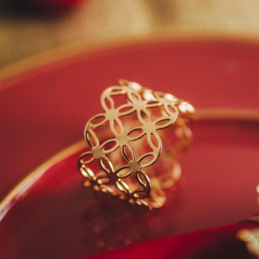 Conjunto de 04 Anéis para Guardanapo em metal 5cm