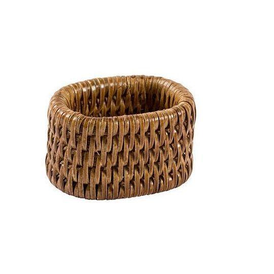 Conjunto de 6 Anéis oval para guardanapo em Rattan PAYA