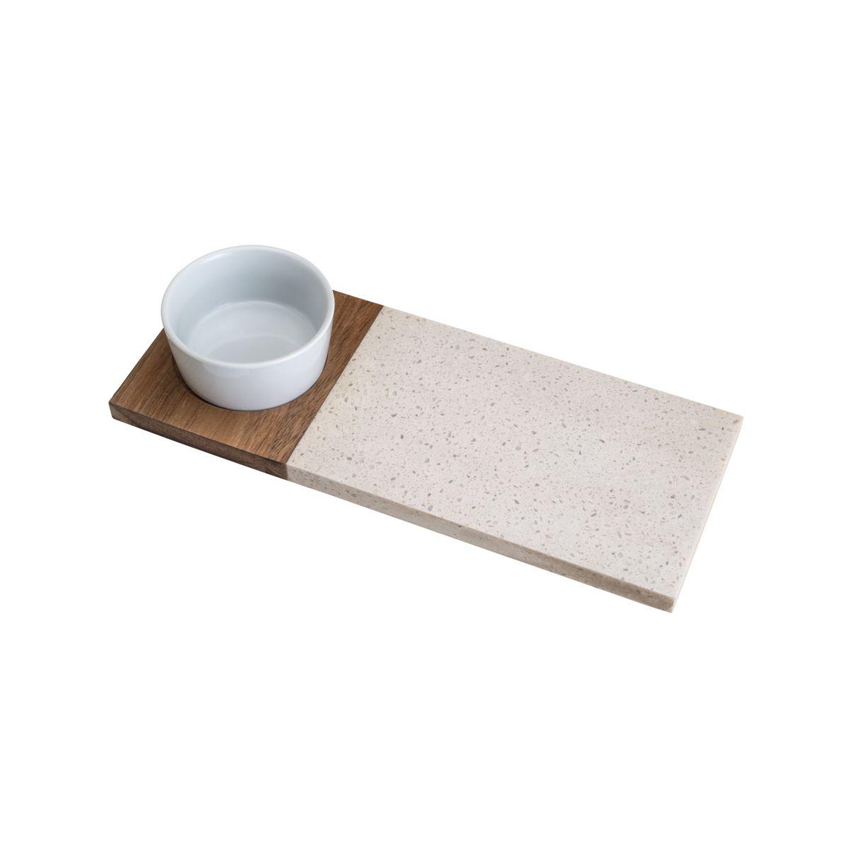 Conjunto de Bandeja de Bambu com Bowl