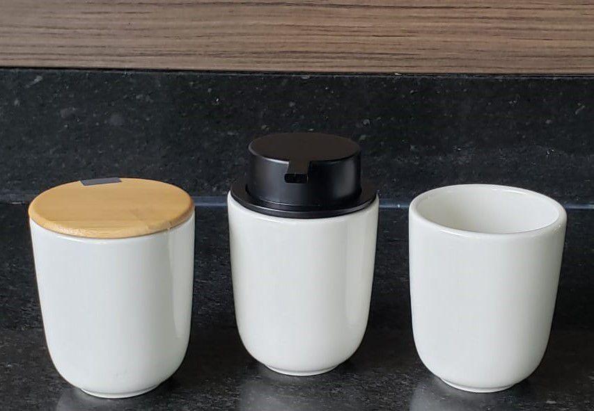 Kit para Banheiro 3pçs em Cerâmica Osaka