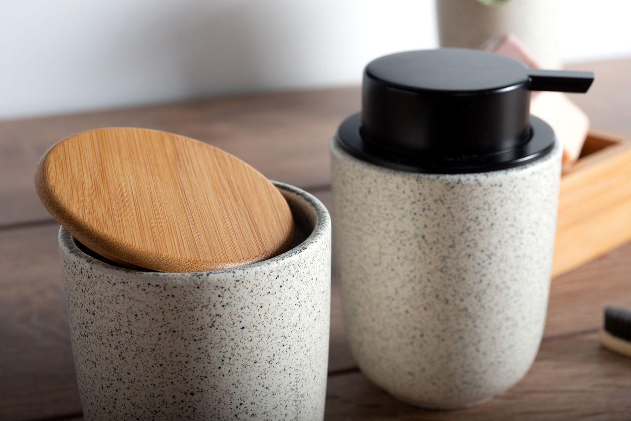 Kit Banheiro 3 pcs Cerâmica para Banheiro Osaka
