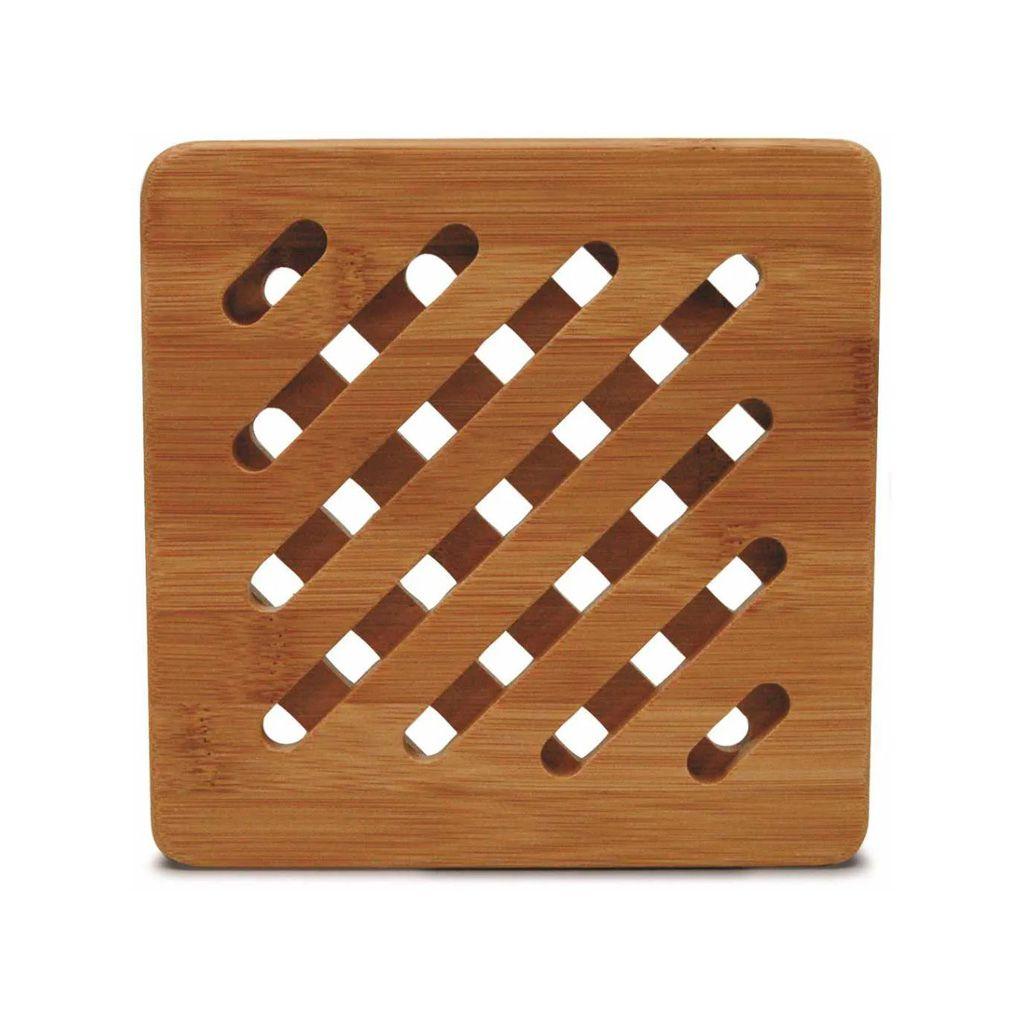 Conjunto de Descanso de travessa quadrado em Bambu Tyft 17cm (3 peças)