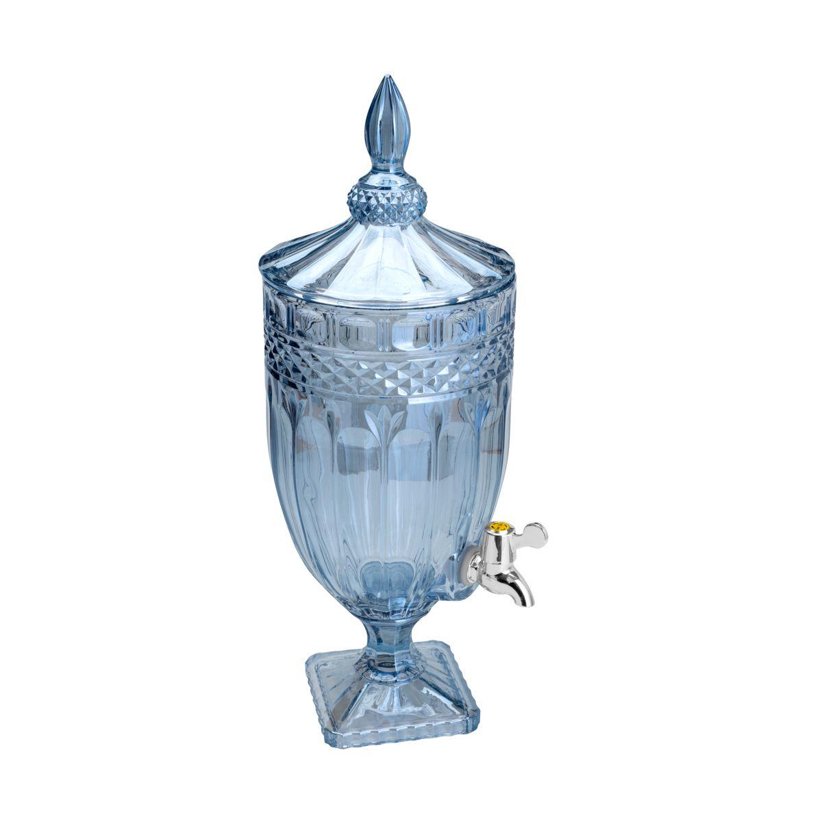 Dispenser/Suqueira de Cristal Ecologico Brandon Azul 4,5L