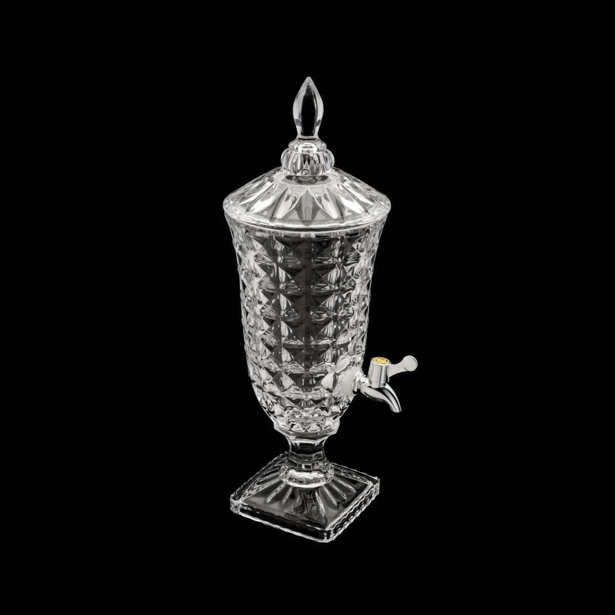 Dispenser/Suqueira de Cristal Ecológico  Diamant 2L