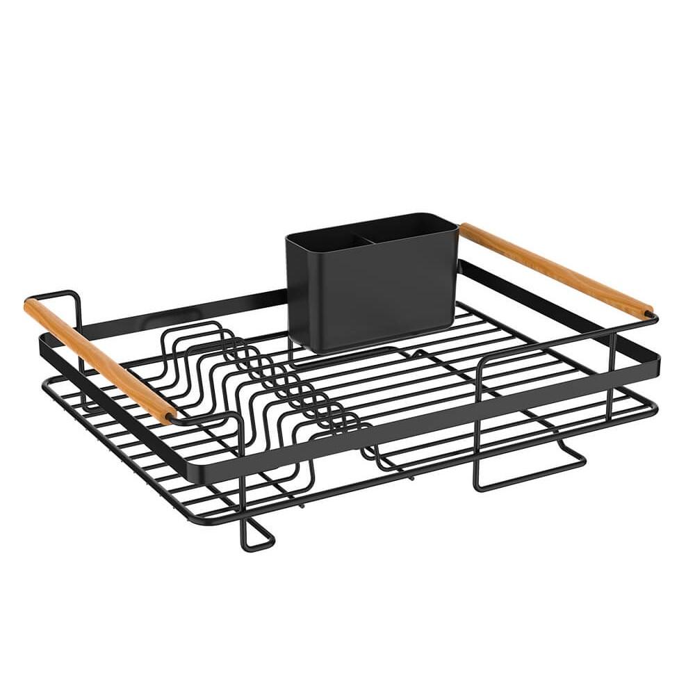 Escorredor para Louças Preto em Metal Metalla 44cm - Yoi