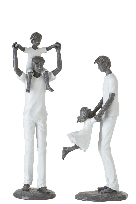 Estatua Pai e Filho 29cm Ass2