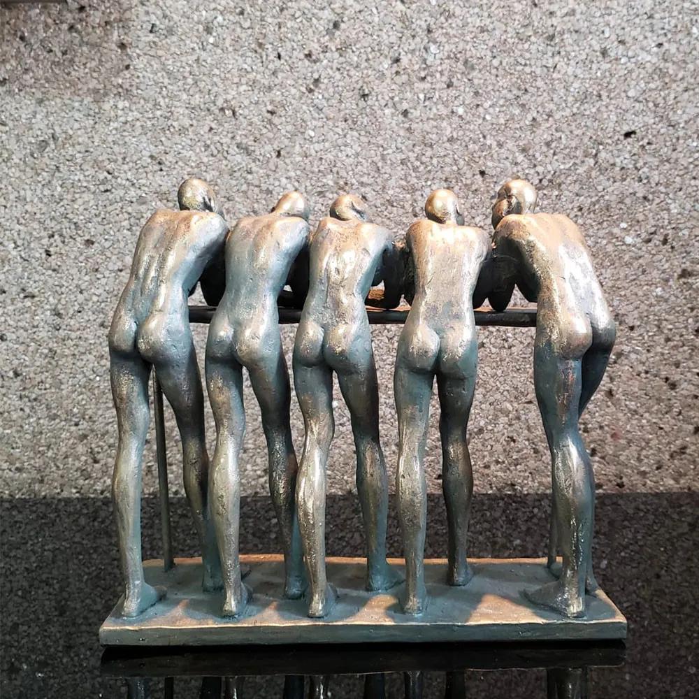 Escultura Personagens em Resina 23x9,5x26cm