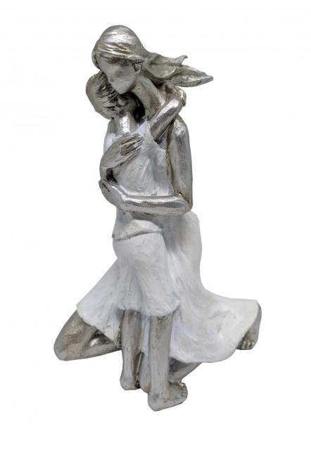 Estatua Mae E Crianca de Resina 13x8x19cm