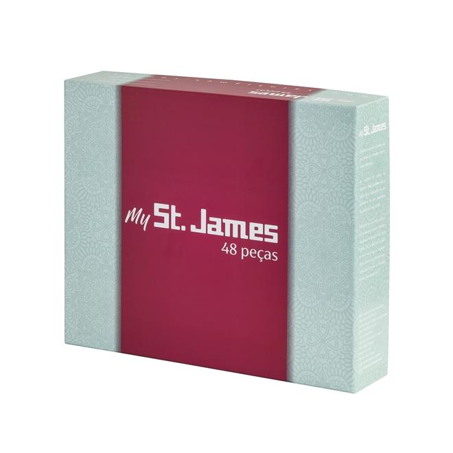 Faqueiro Lace 48pçs em Prata - St. James St