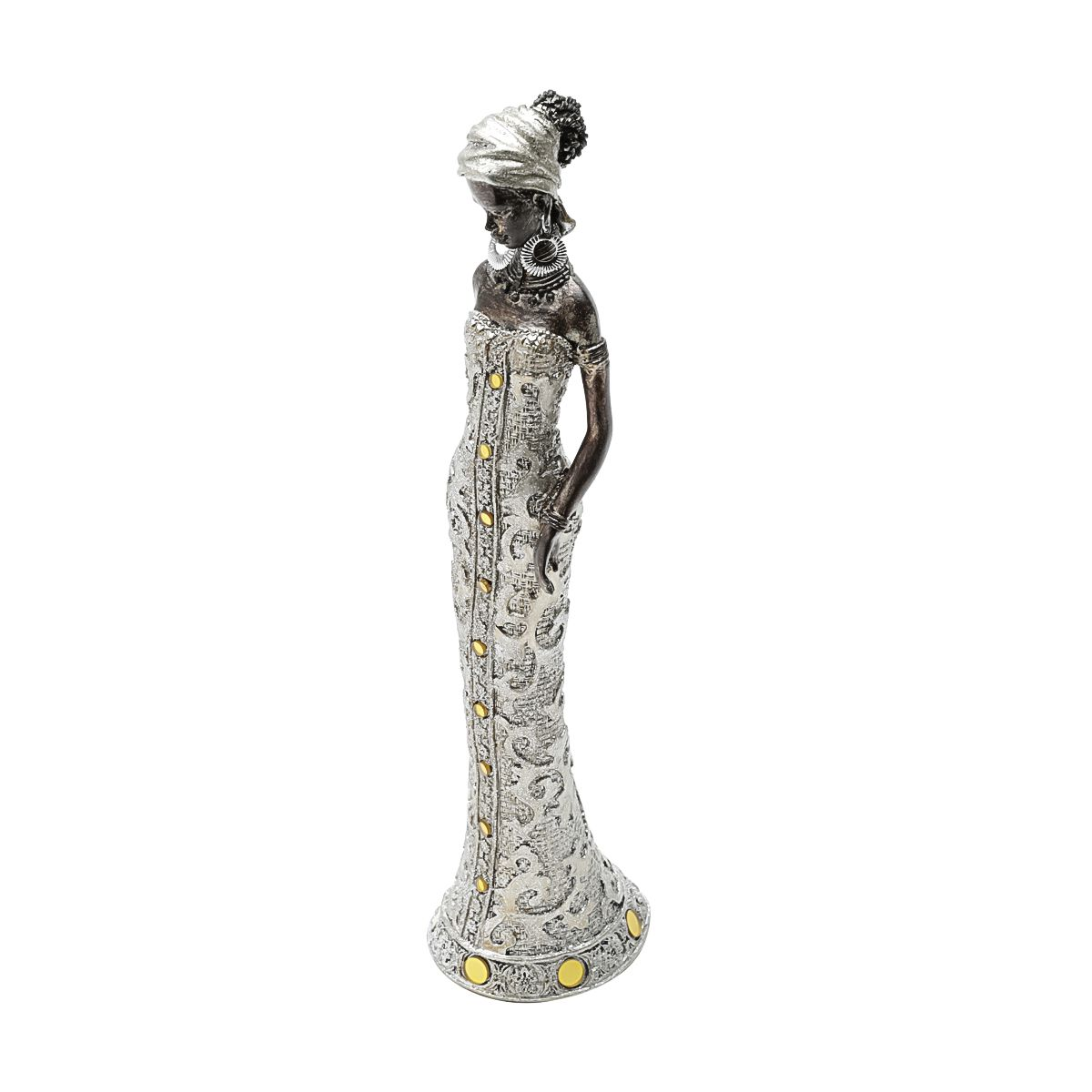Estatua Decorativa  Africana 7x6x29cm