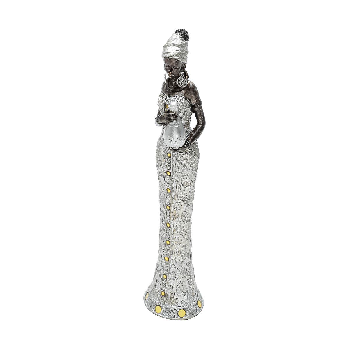 Estatua Decorativa  Africana 7x7x33cm