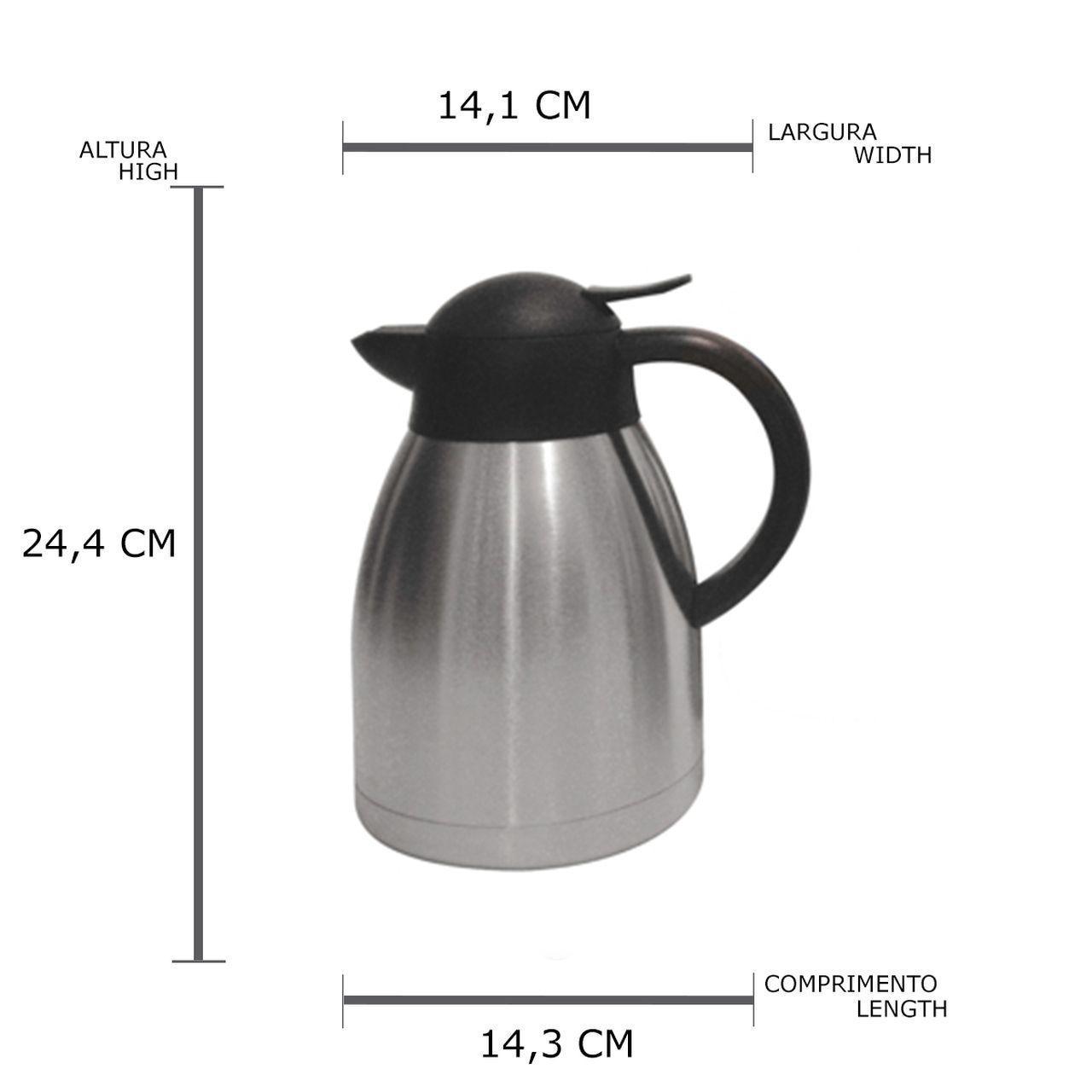 Garrafa Termica de Aço Inox com Dupla Parede 1,2l