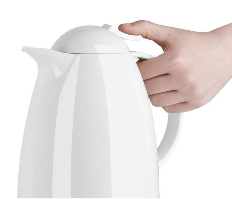 Garrafa Térmica de 1 Litro Quick Tip Auberge Emsa Branca