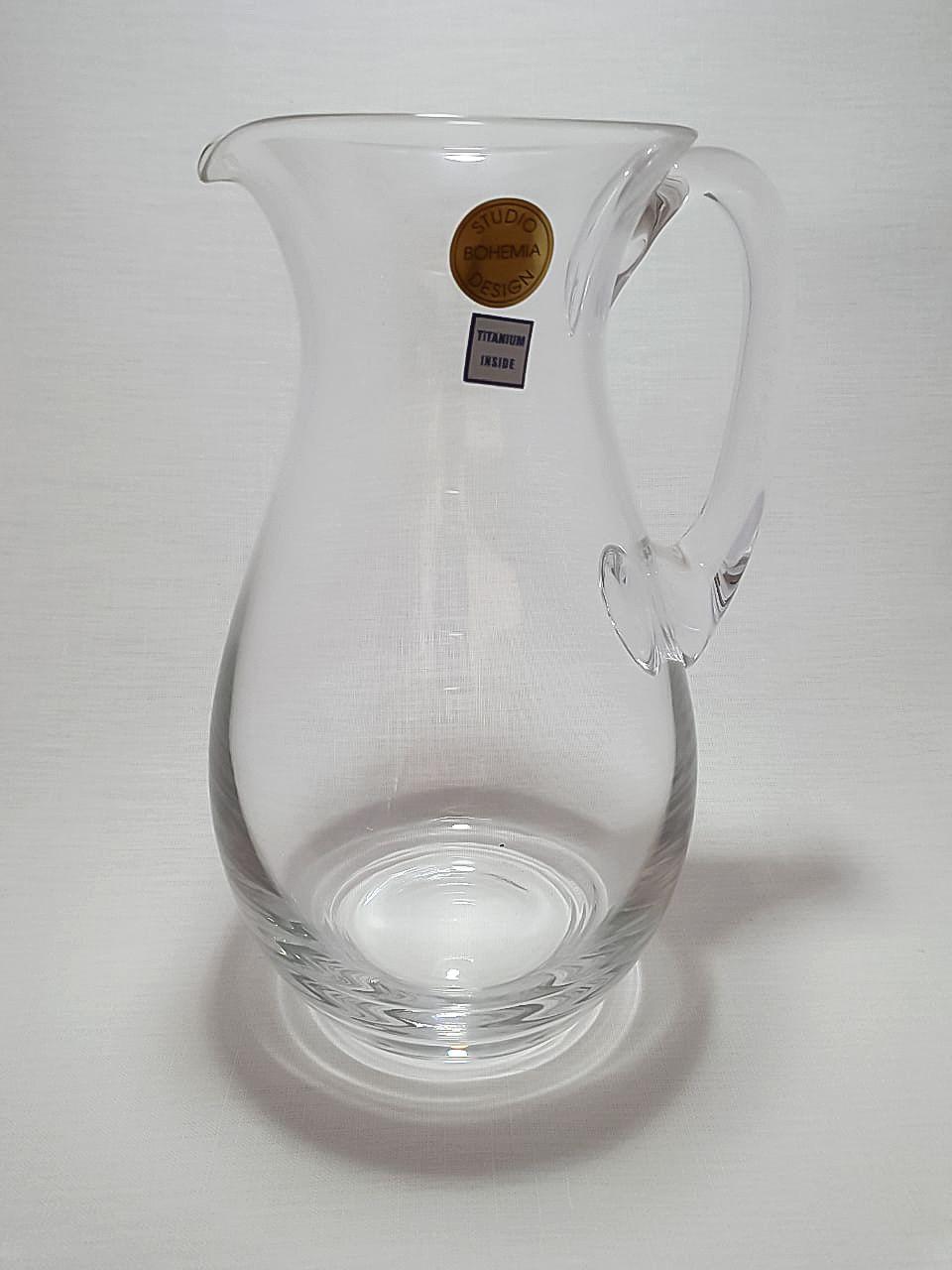 Jarra Studio Cristal Bohemia Design Titanium Inside 1100 Ml