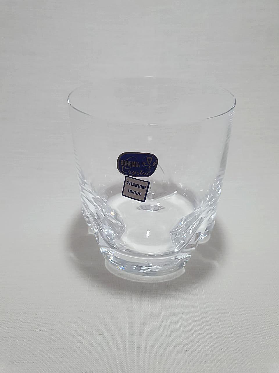 Jogo 6 Copos Cristal Bohemia Titanium Inside - On The Rocks 410ml