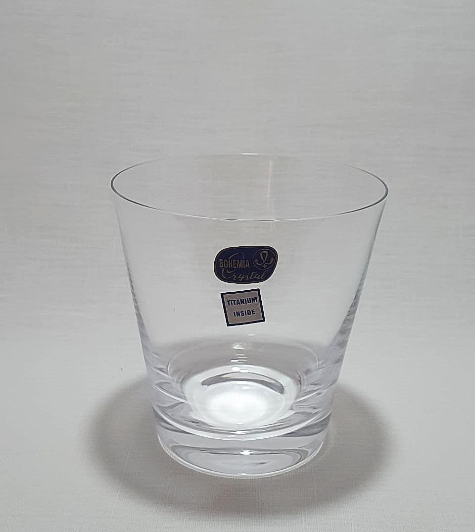 Jogo 6 Copos para Whisky Cristal Bohemia Titanium In Side 330ml - Jive