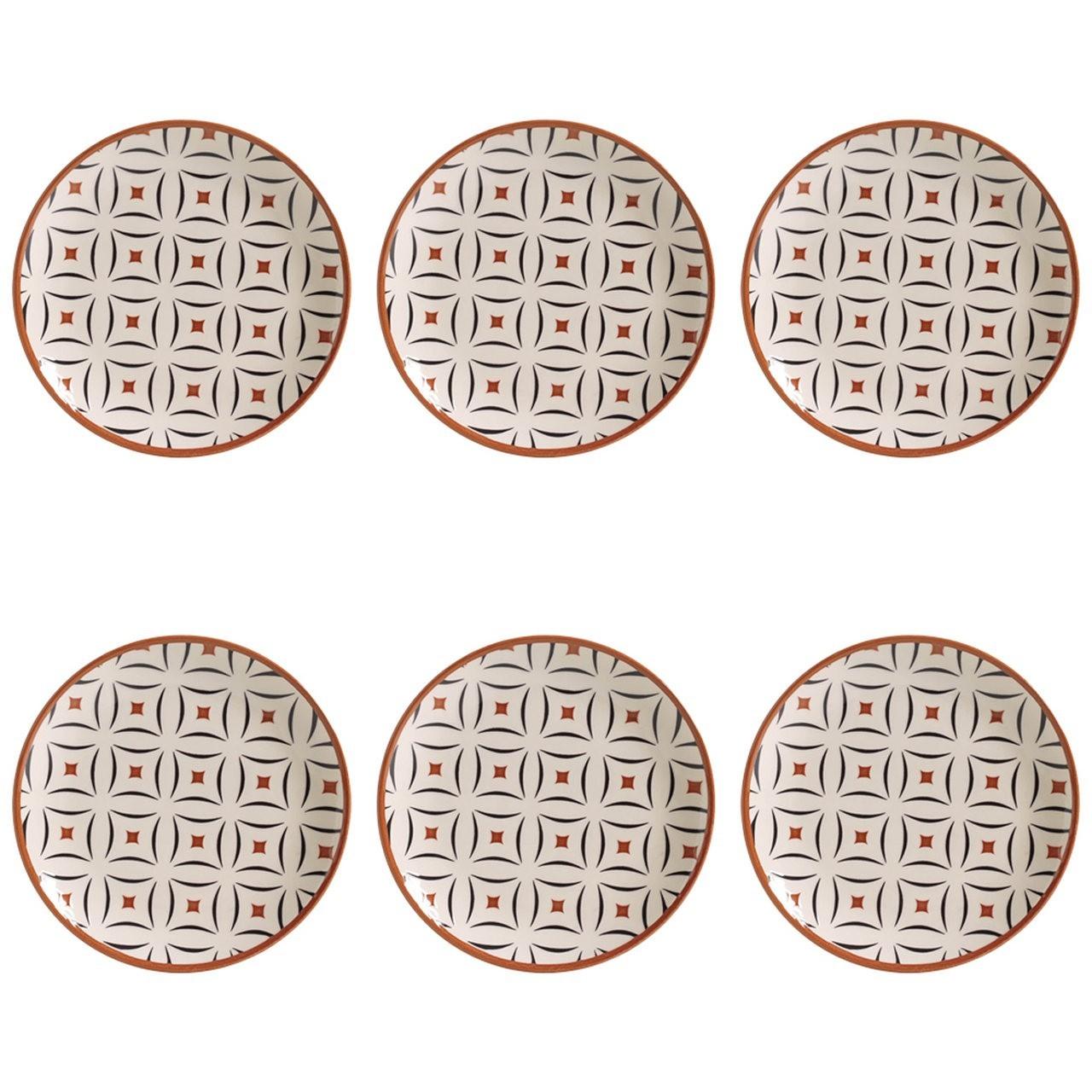 Jogo 6 Pratos Sobremesa Coup Geometria 20cm Porto Brasil