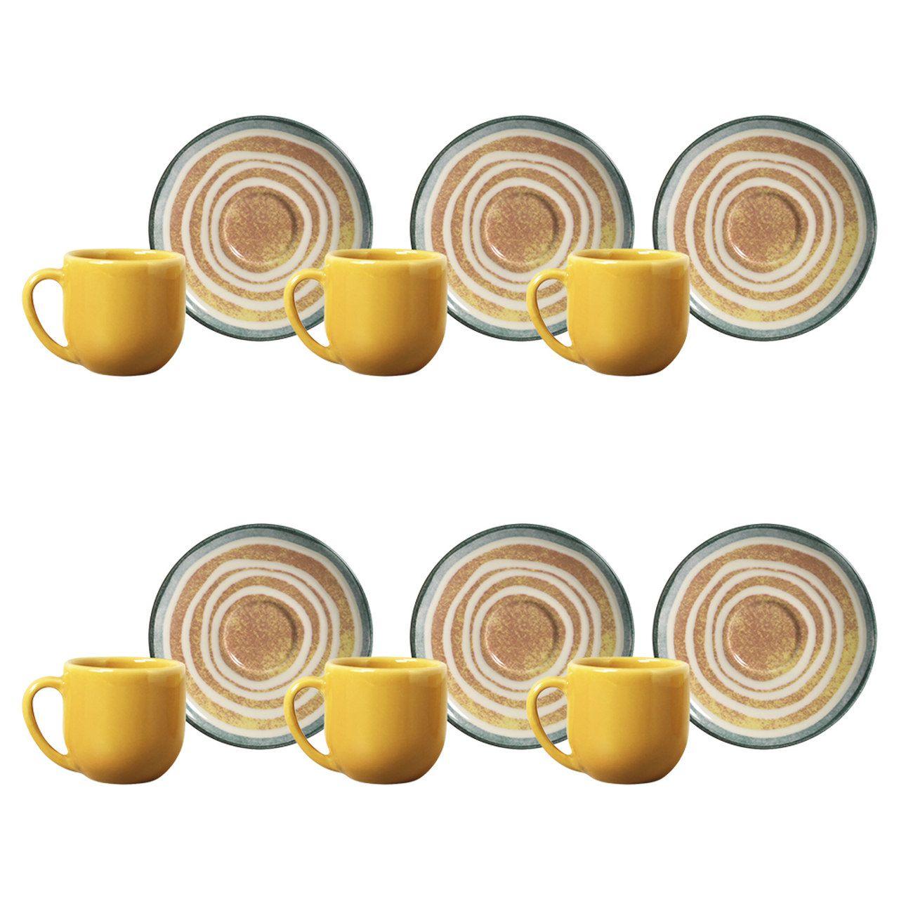 Jogo 6 Xícaras de Café com Pires Coup Siracusa - Porto Brasil
