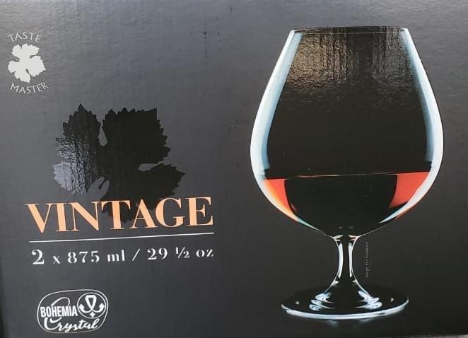 Jogo com 2 taças de Cognac Vintage Titanium Inside - Vintage