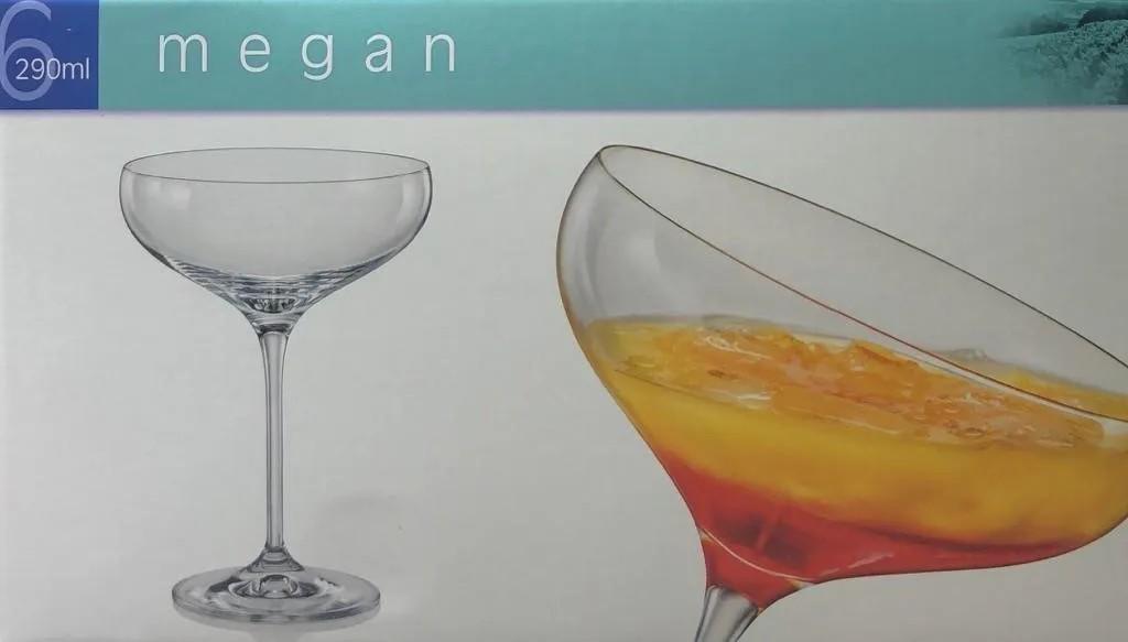Jogo com 6 Taças de Champagne Vintage 290ml Titanium Inside - Megan