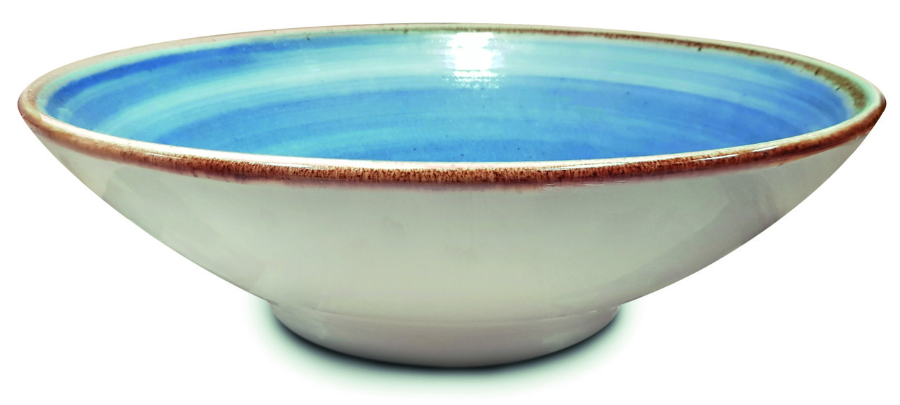 Jogo de 4 xícaras de Café 110ml e 1 Bowl 880ml Artisan Azul