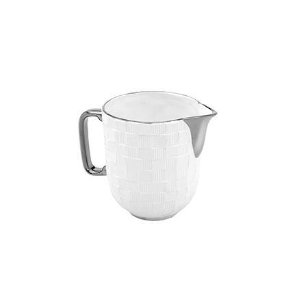 Jogo de Chá Vera Silver 3pc em Porcelana