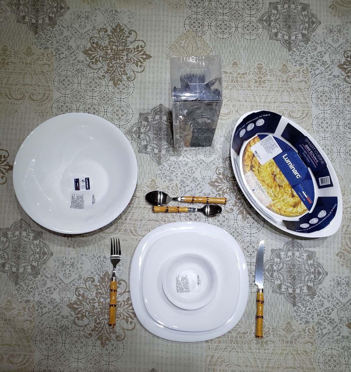 Jogo de Jantar Luminarc Carine Branco